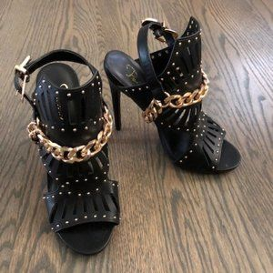 Privileged Black & Gold Heels